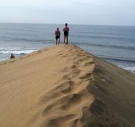 Vandring längst Maspalomas stranden 2014.