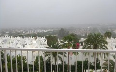 Regn i Playa del Ingles