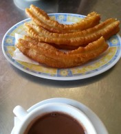 Churros på Bombón Café